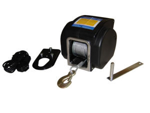 12V/24VDC Portable Winch with Wireless Remote Control 2000lb/907kg pictures & photos