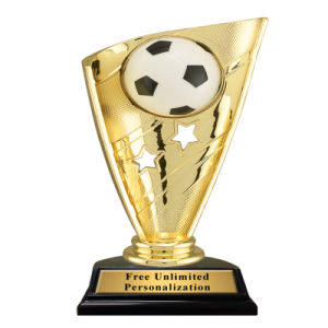 Customized Gold Trophy for Soccer Competition pictures & photos
