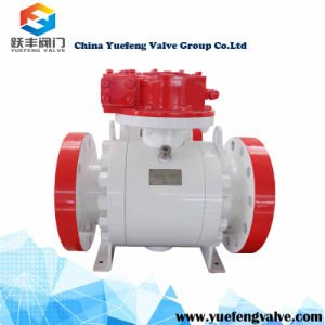 Forged Gear Operate Flange Trunnion Ball Valve pictures & photos