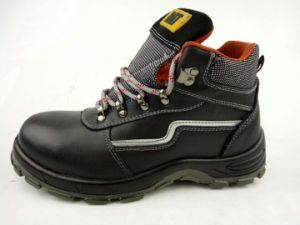 Professional Split Embossed Leather Safety Shoes pictures & photos