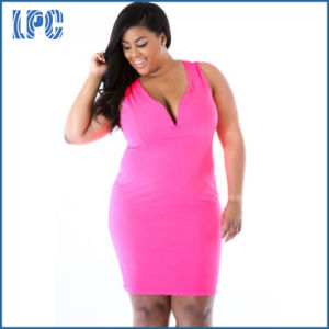 Online Cocktail Party Fashion XXL Size Women Casual Dress pictures & photos