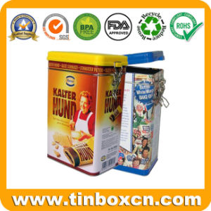 Rectangular Chocolate Biscuit Tin for Metal Food Can Packaging Box pictures & photos