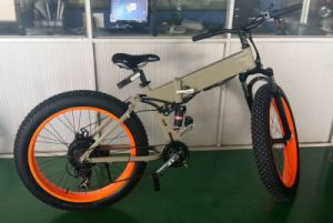 Fat Tire Mountain E Bike Folding with Full Suspention pictures & photos