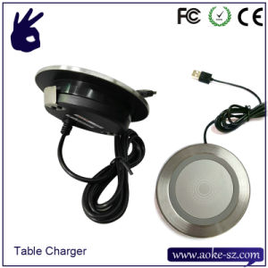 Coffee Table Charger Qi Embedded Wireless Battery Charger pictures & photos