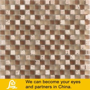 Travertino Stone Glass Mosaic 01 pictures & photos