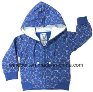 Fleece Sweat Zipper Hoody for Girl with All-Over Printing pictures & photos