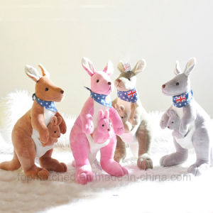 Baby Gift Stuffed Animal Toy Blue Plush Doll Kangaroo pictures & photos