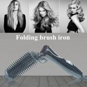 2016 Hot Folding Mini Hair Curler Hair Straightening Brush Iron pictures & photos