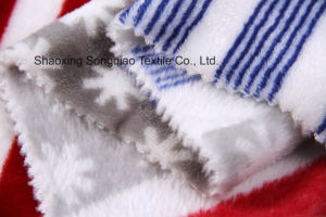 Printed Polyester Flannel/Coral Fleece Fabric - 14447-3 1# pictures & photos