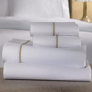 Pure White Cotton Bedsheet for Hotel Bed Linen (DPF1037) pictures & photos