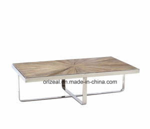 Good Quality Stainless Steel Wooden Coffee Table Modern Furniture pictures & photos