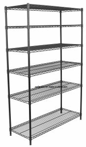 Hot Sale 6 Tier Commercial Office Storage Heavy Duty Wire Metal Shelf Shelving Rack, NSF Approval & No Tools Assembly pictures & photos
