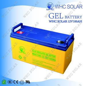 Whc 12V Full Capacity Gel Deep Cycle Battery for Home Power System pictures & photos