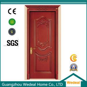 Classical Entry Solid Wooden Door with Door Handle Lock pictures & photos