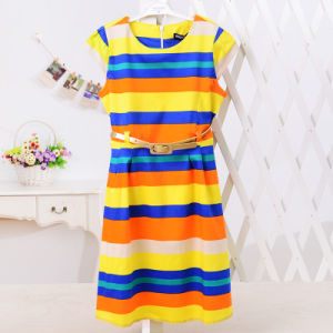 Girls Long Sleeve Lovely Dress pictures & photos