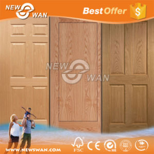 White Primer HDF Door, Wood Veneer Teak Ash Molded Door Skin pictures & photos