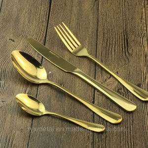 High Class Gold Plated Stainless Steel Dinnerware Tableware Flatware Cutlery pictures & photos