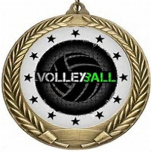 Metal Volleyball Medal with Printed Sticker pictures & photos