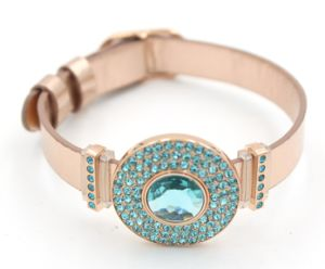 New Design Bithstone Bracelet with PU Leather Band for Fashion Jewelry pictures & photos