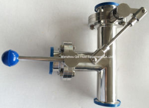 Stainless Steel Tee Style Butterfly Valve with One Pulling Handle pictures & photos