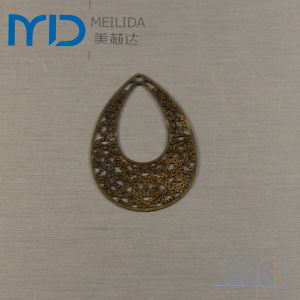 Coppery Etaching Filigree Manufacturer and Brass Earrings Factory pictures & photos