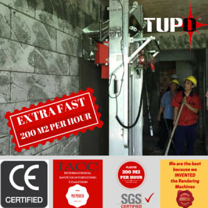 Tupo Automatic Wall Mortar Cement Plaster Machine for Construction pictures & photos