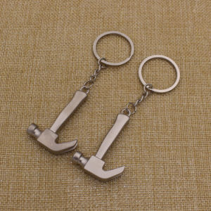 Stock Metal Hammer Keychain with Matt Finish pictures & photos