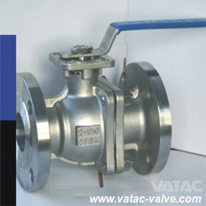 Full Bore Lever Operation RF Flanged End Two Pieces Floating Ball Valve pictures & photos
