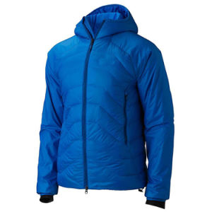 Men Blue Colour Insulated Down Jacket with Hood pictures & photos