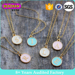 Handmade 12 Month Colored Round Gold Initial Pendant Necklace #B107 pictures & photos