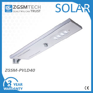 40W Integrated Solar LED Street Light with Solar panel and Battery All in One pictures & photos