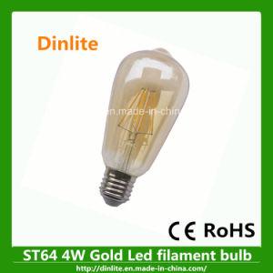 Vintage St64 Gold LED Filament Bulb Light pictures & photos