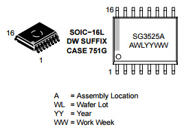 Integrated Circuit Sg3525adwr2g of Pulse Width Modulator Control IC pictures & photos