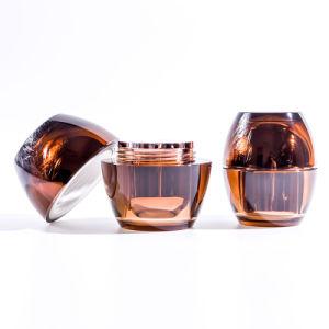 Amber Egg Shape Acrylic Cream Jar (EF-J08) pictures & photos