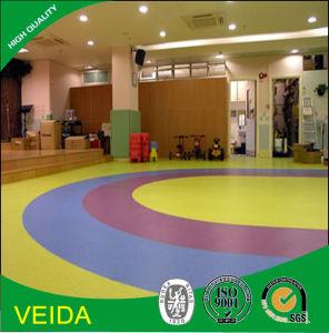 Environmental Protection Material Commercial PVC Vinyl Flooring in Kindergarden
