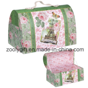 Printed Paper Portable Treasure Chest Keepsake Storage Box Jewelry Organizer Box pictures & photos