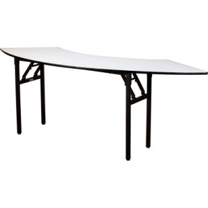Modern Semi-Circular Laminate Banquet Folding Table pictures & photos