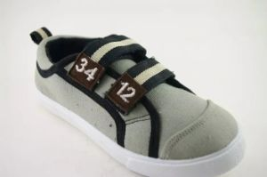 High Quality Canvas Shoes with Two Magic Tape (NU040) pictures & photos
