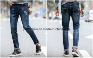 Hot Sale Mens Clothing Hole and Stretch Denim Jeans pictures & photos