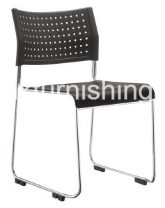 Black Plastic Simple Design Meeting Chair