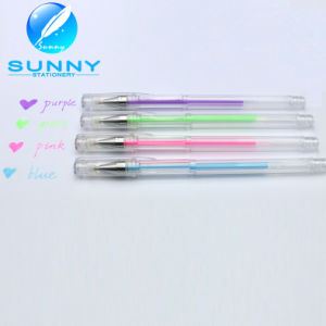Best Sale Multicolor White Gel Pen in Low Price, Gel Ball Pen for School Supplies pictures & photos