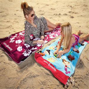 100% Cotton Competitive Price Velour Bath Towel Beach Towel pictures & photos