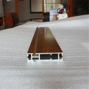 Flat Wood-Grain Transfer Extrusion Aluminum pictures & photos