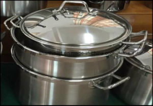 Large Low Stainless Steel Casserole pictures & photos
