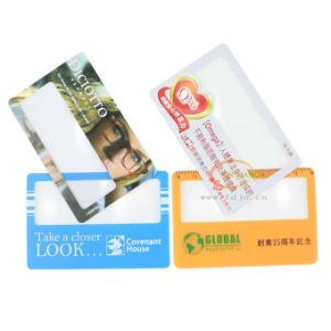 Popular Card with Magnifier Cheap Price Credit Card Size Magnifier Lens (HW-802) pictures & photos