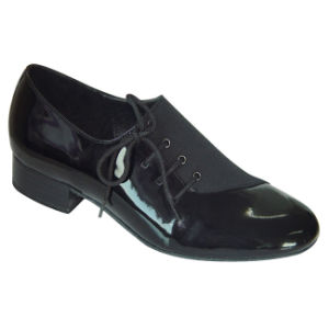 Black Patent Leather Men′s Ballroom/Standard Dance Shoes pictures & photos