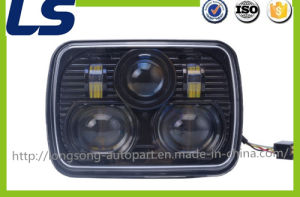 5 Inch Square Headlight with Beam LED Front Light for Jeep