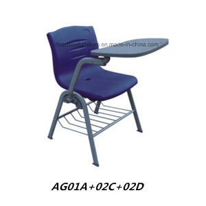 Powerful School Chairs with Tablet PE Chair with Metal Legs pictures & photos