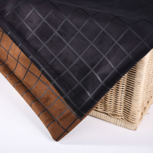 Checks Design Suede Fabrics for Garment
