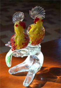 Unique Design Murano Glass Bird for Table Top Display